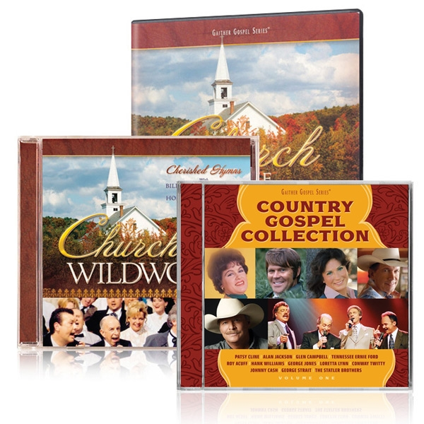 Church In The Wildwood DVD/CD w/Country Gospel Collection CD