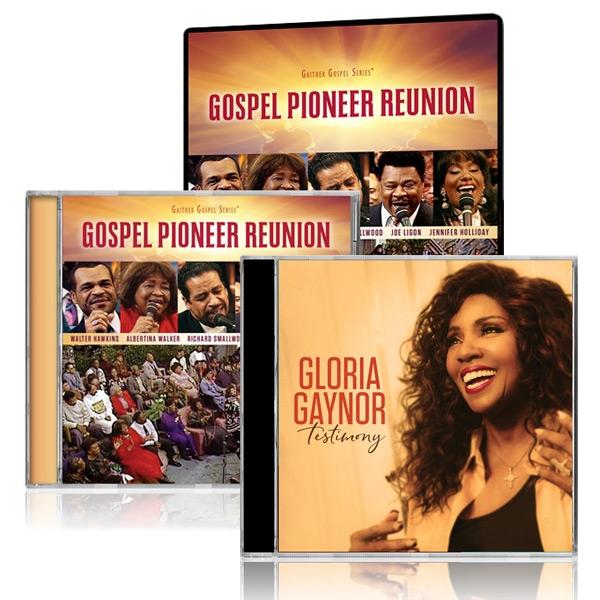 Gospel Pioneer Reunion DVD/CD w/Gloria Gaynor: Testimony CD