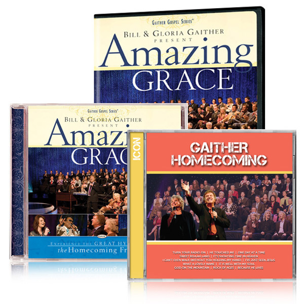 Amazing Grace DVD/CD w/bonus Gaither Homecoming Icon CD