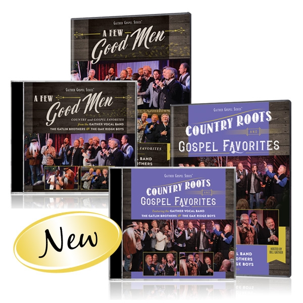 GVB/Gatlin Brothers/Oak Ridge Boys: Country Roots & A Few Good Men DVDs & CDs