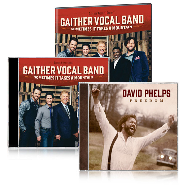 Gaither Vocal Band: Sometimes It Takes A Mountain DVD/CD w/bonus David Phelps Freedom CD