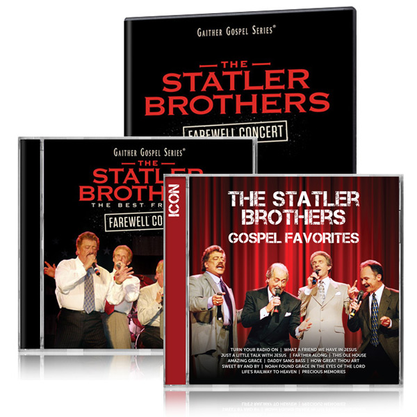 Statler Brothers Farewell DVD/CD w/bonus Statler Brothers Gospel ICON CD