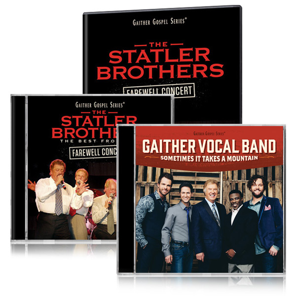Statler Brothers Farewell Concert DVD/CD w/bonus GVB Sometimes It Takes A Mountain CD