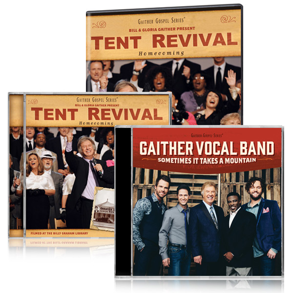 Tent Revival Homecoming DVD/CD w/bonus GVB Sometimes It Takes A Mountain CD