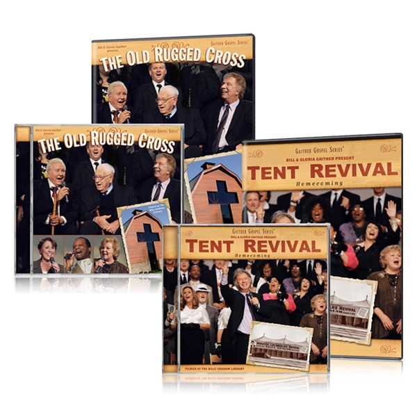 Tent Revival/Old Rugged Cross 2 DVDs & 2 CDs