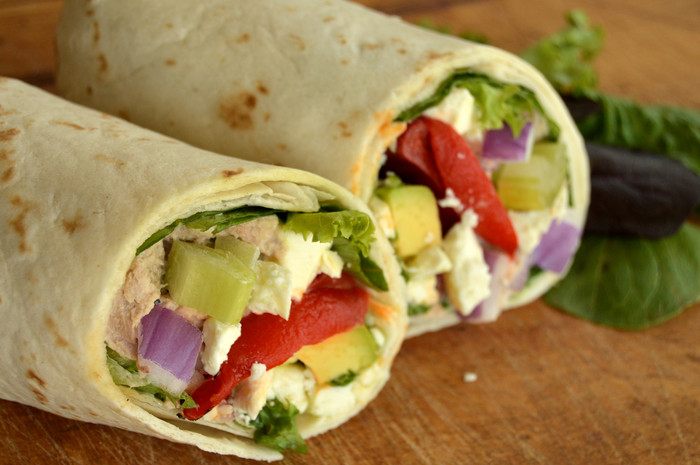A Taste of the Good Life: Roasted Red Pepper Tuna Wraps
