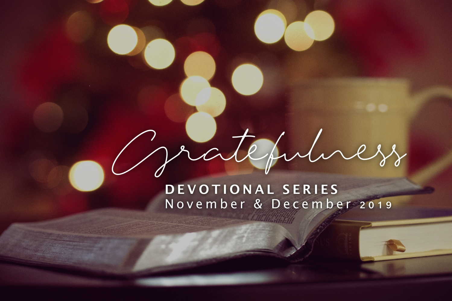Gratefulness Devotional: Purposeful Gratitude