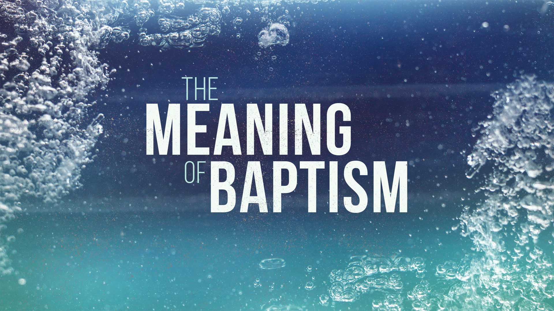 Sunday October 8, 2017 The Meaning Of Baptism - Pastor Anthony Cox