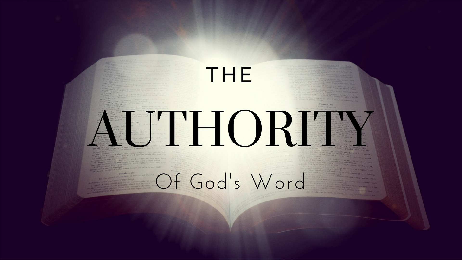 The Authority Of God's Word