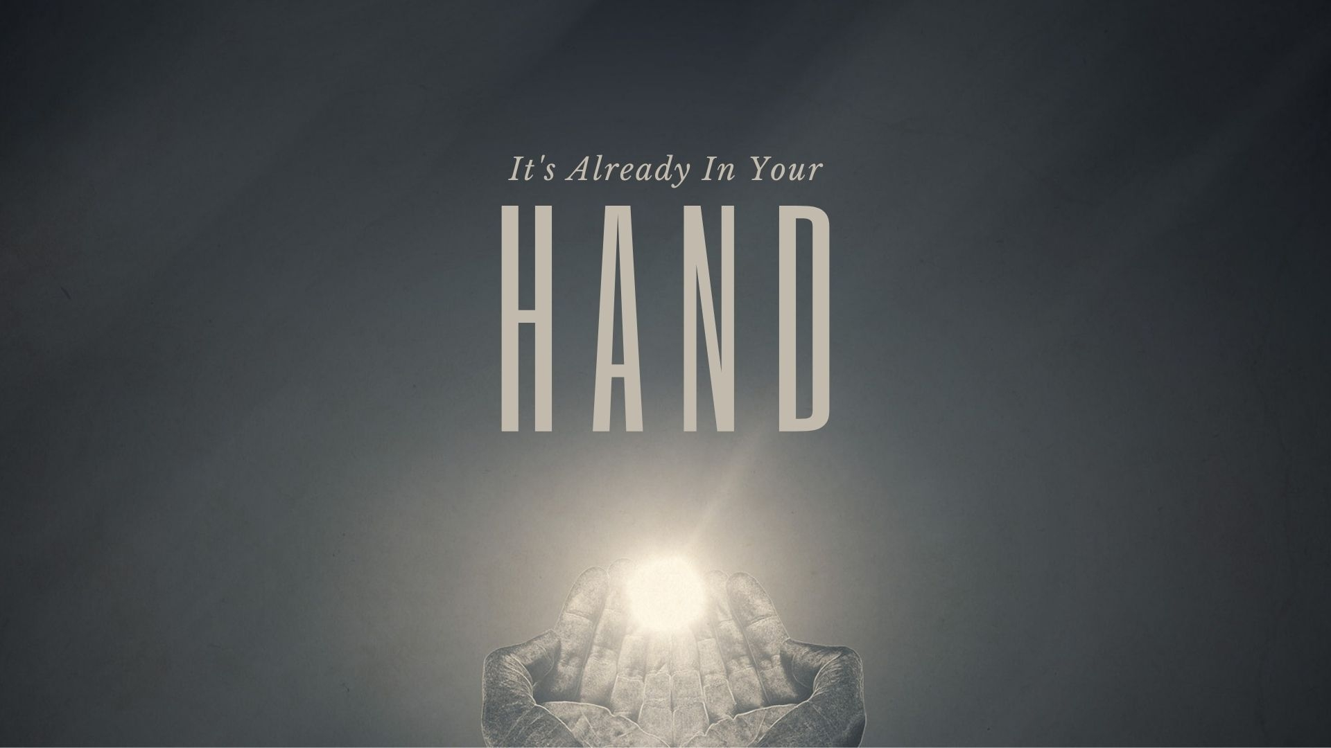 Thursday September 17, 2020 It's Already In Your Hand - Pastor Anthony Cox