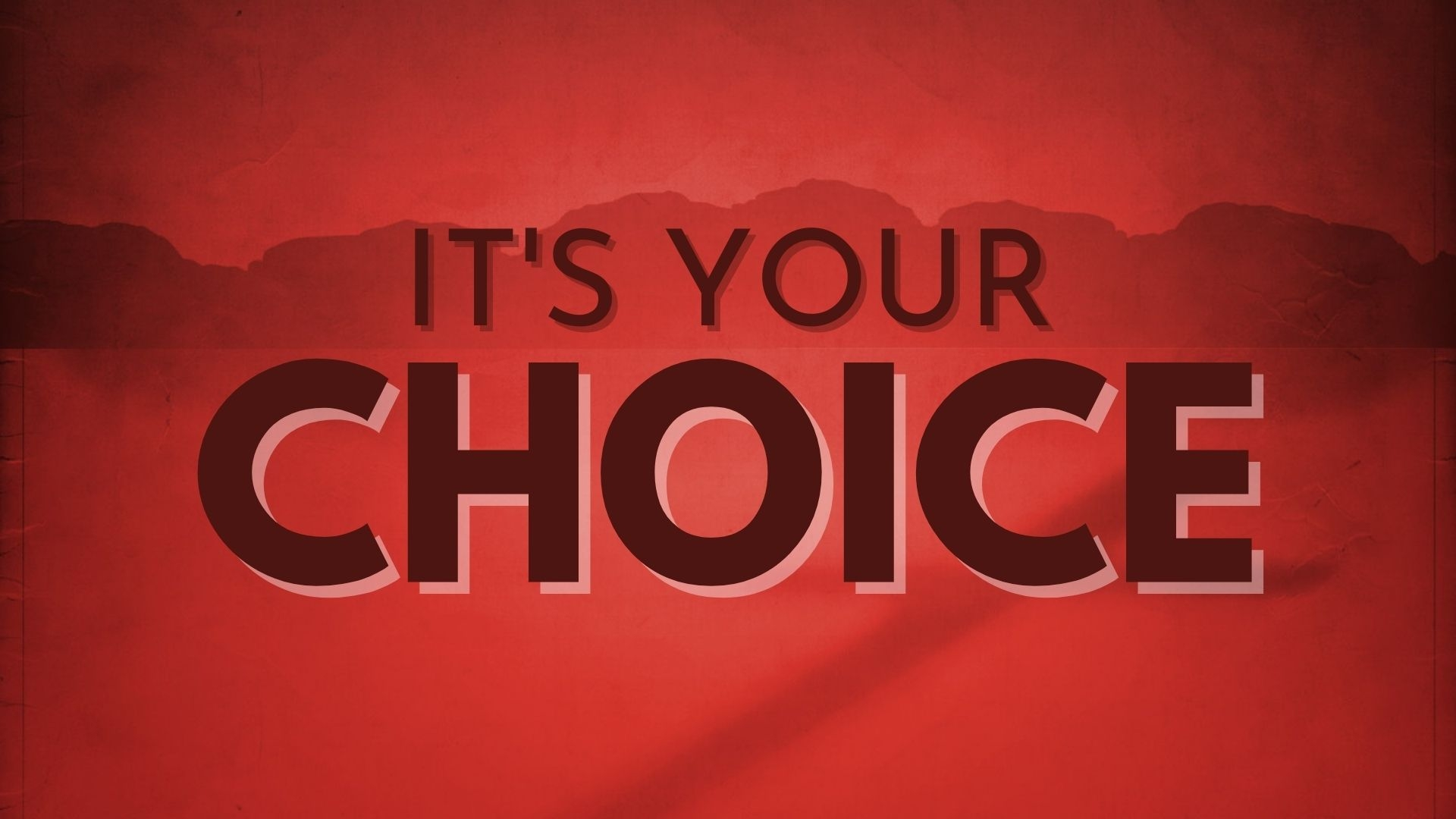 Sunday April 11, 2021 It's Your Choice - Pastor Anthony Cox