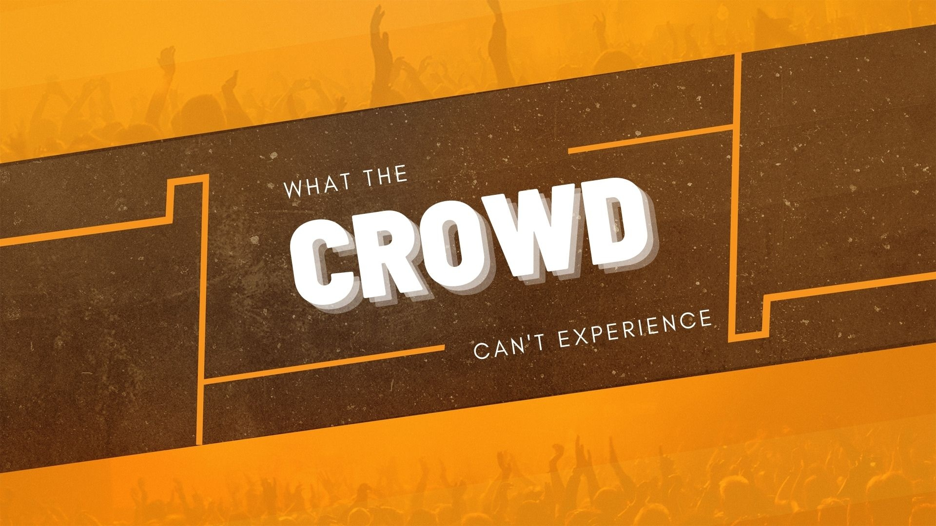 Thursday September 10, 2020 What The Crowd Can't Experience - Pastor Anthony Cox