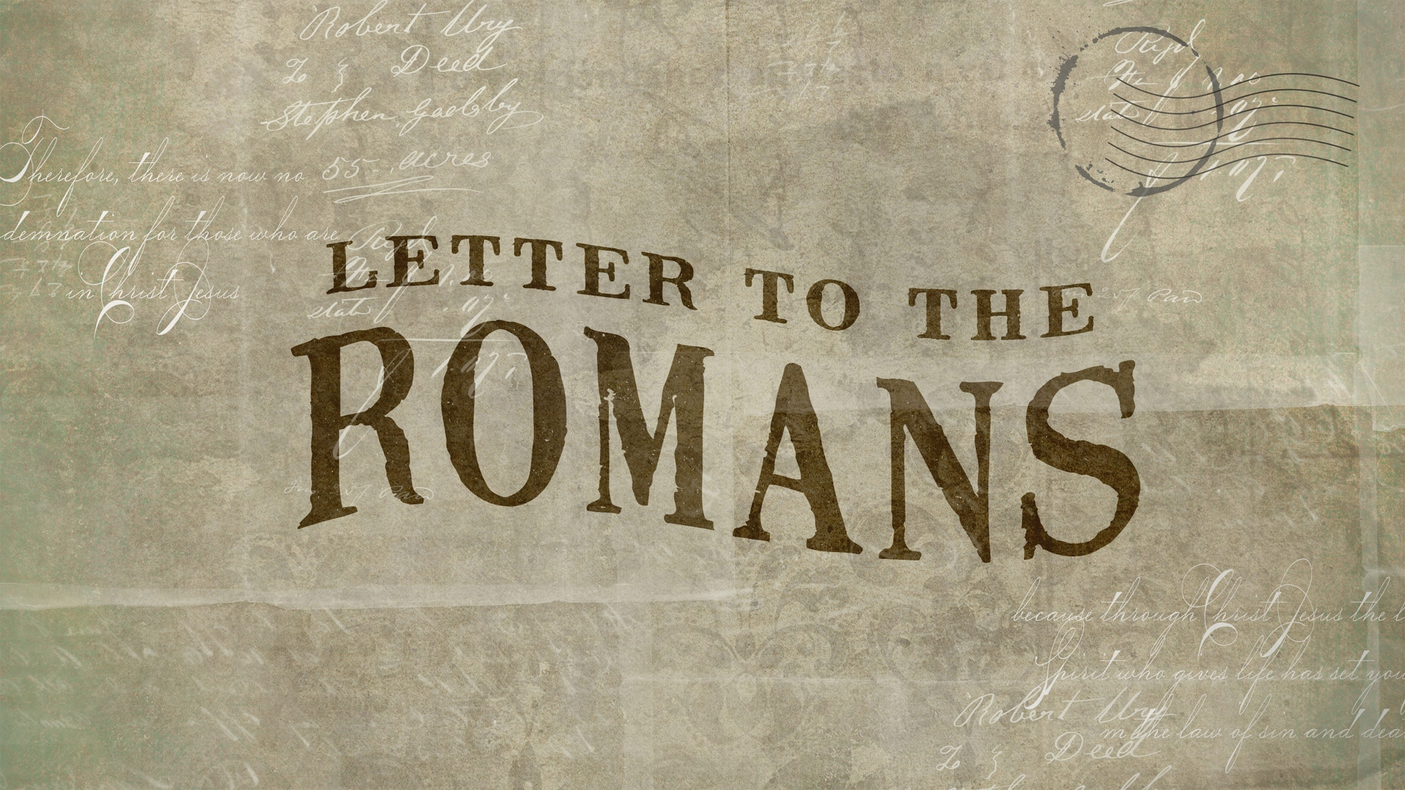 A Letter To The Romans