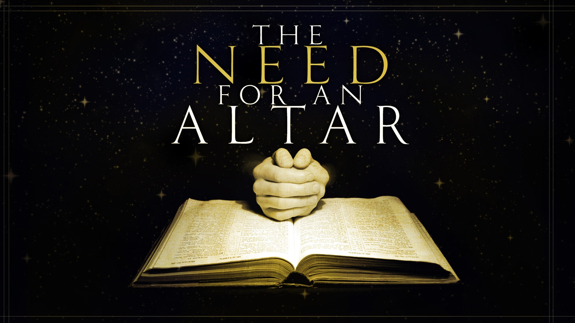 Thursday December 7, 2017 The Need For An Altar - Pastor Anthony Cox