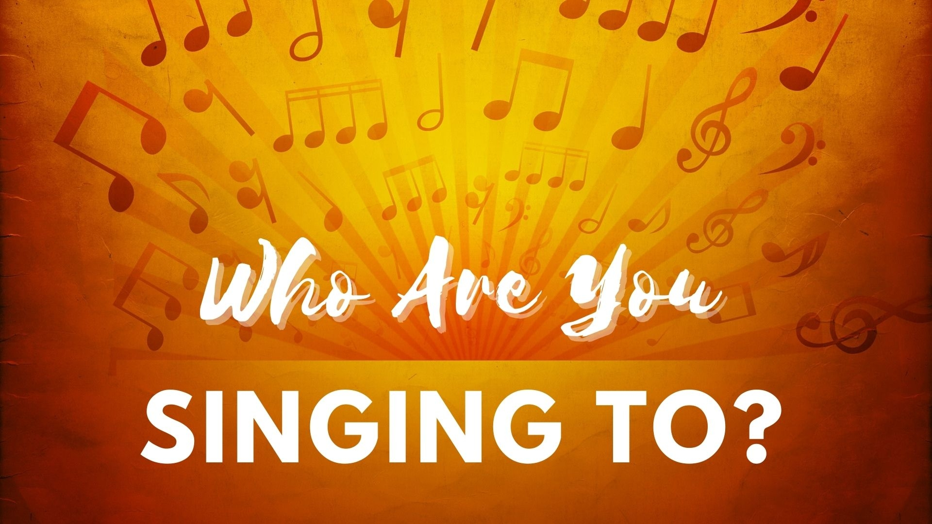 Thursday March 18, 2021 Who Are You Singing To? - Pastor Anthony Cox