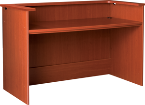 """60"""" Wide Knee space Desk Station With Patron Ledge"""