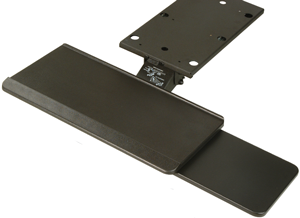 Articulating Keyboard tray with mouse extension