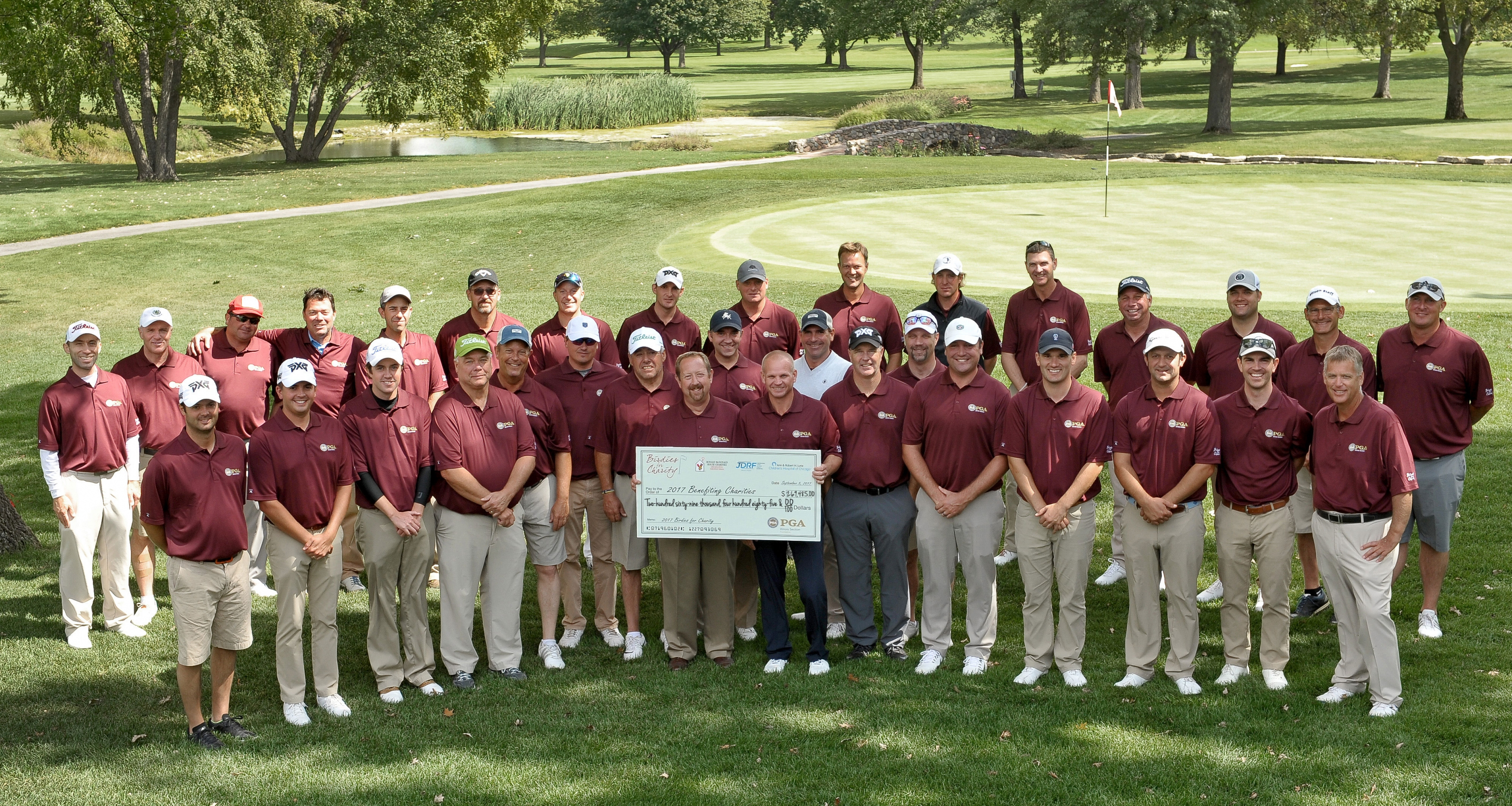 Illinois PGA Professionals Raise Record Amount For Children's Charities