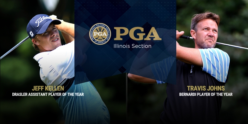 TRAVIS JOHNS AND JEFF KELLEN CAPTURE  ILLINOIS PGA PLAYER OF THE YEAR HONORS