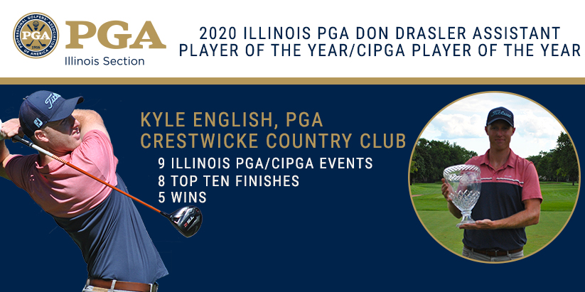 English Wins 2020 Don Drasler Illinois PGA Assistant Player of the Year and Chapter Player of the Year