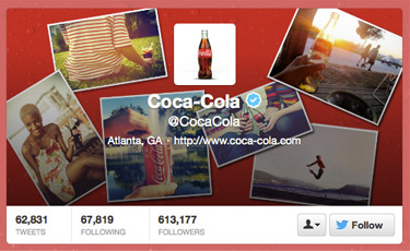 Coca-Cola Twitter Header Photo