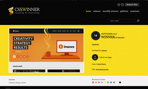 CSS Winner Site of the Day