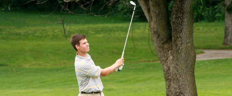 Adam Schenk, leader heading into day three of the State Am.