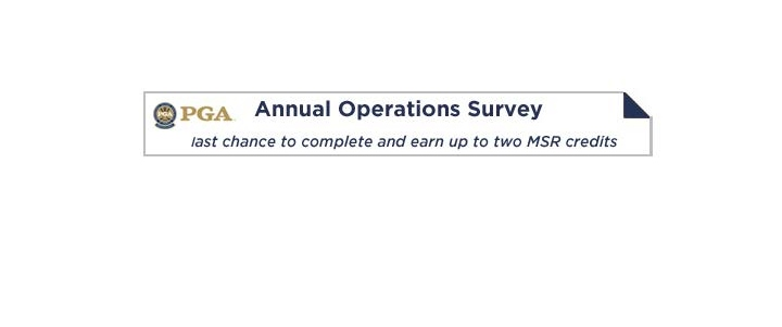 Fill Out Operations Survey for 2 MSR Credits