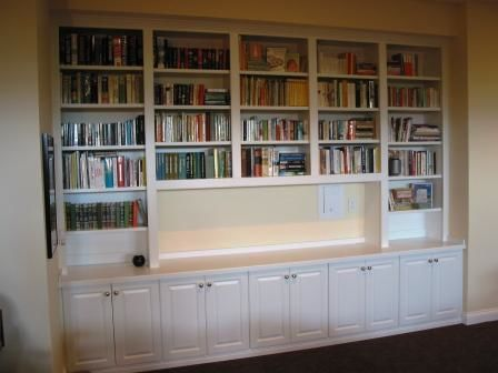 Indianapolis Custom Bookcases And Bookshelves Innovative - Built in bookshelves