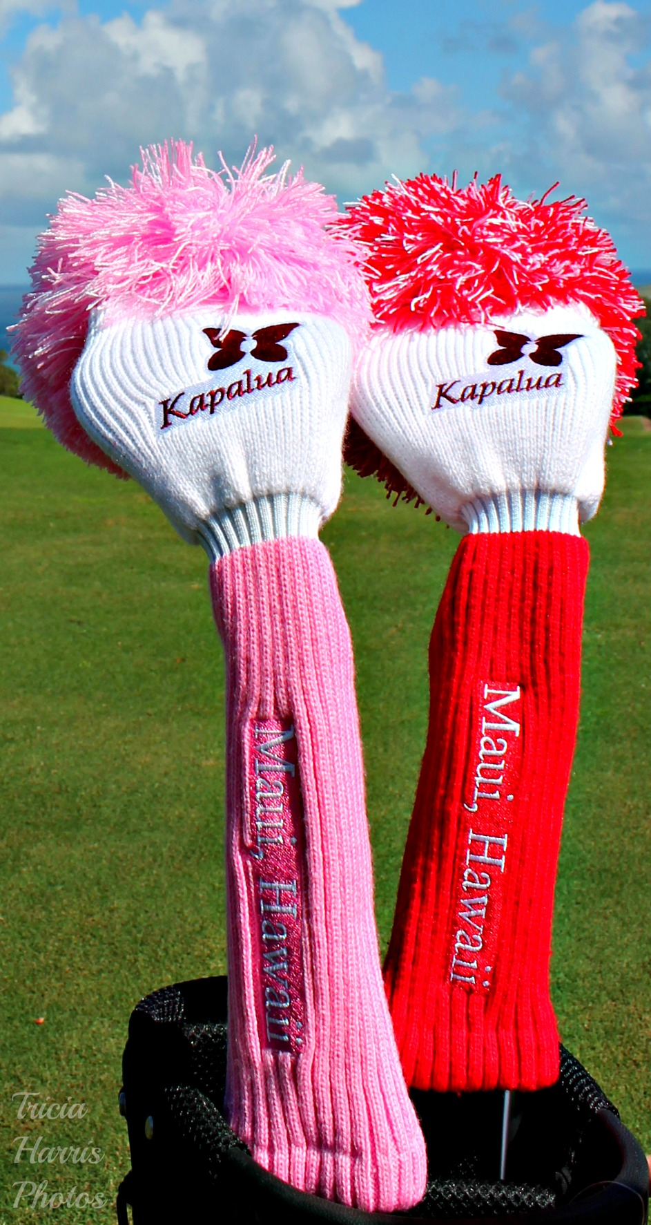 Kapalua Fuzzy Headcover Pink or Red