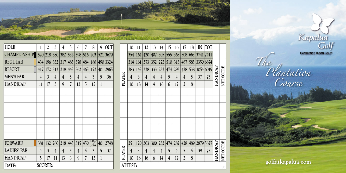 Kapalua Plantation, Lahaina, Hawaii - Golf course ...