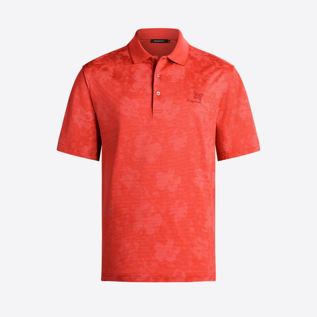 Bugatchi's Hibiscus polo with Kapalua logo will keep you on island time!  Ready to hit the links and