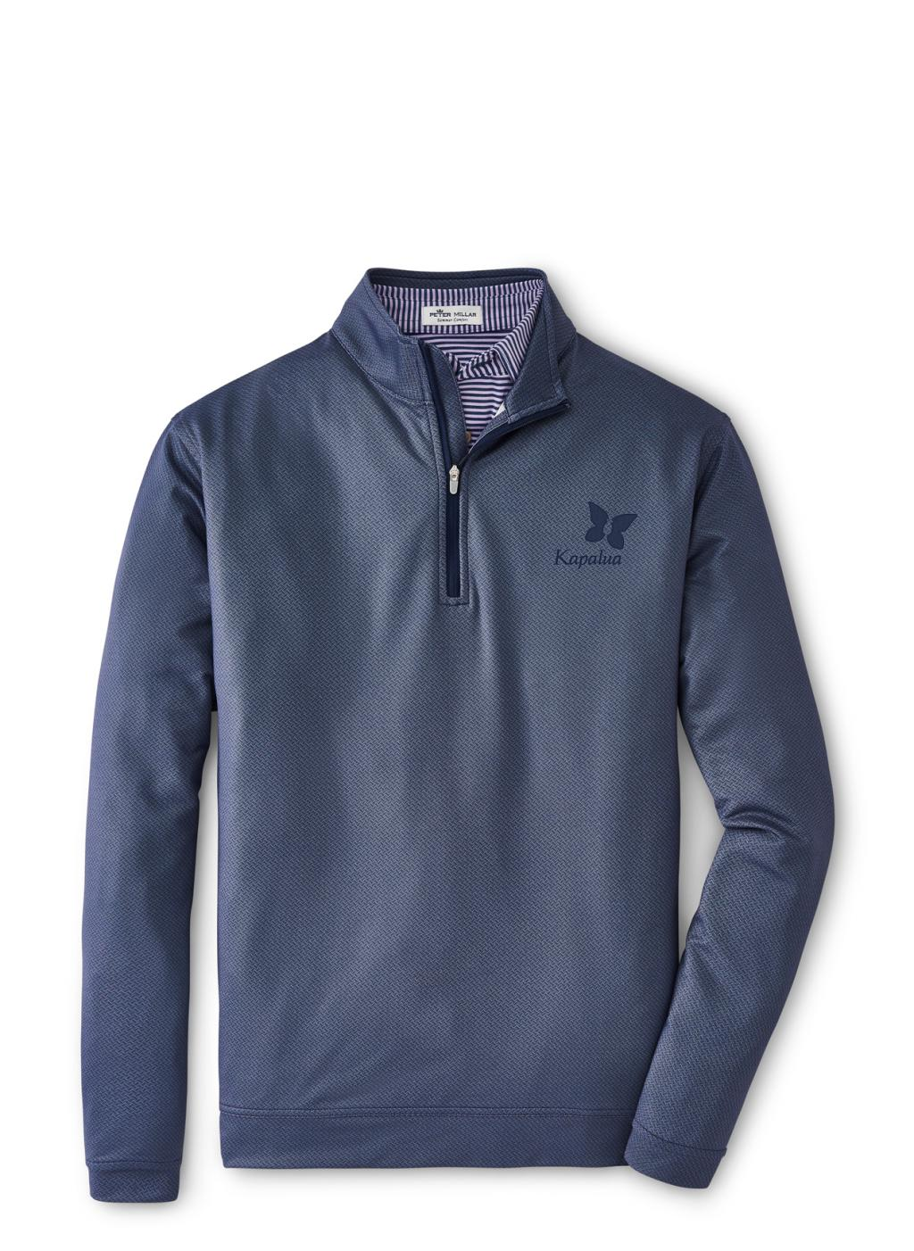 Peter Millar Perth Stich Performance 1/4 Zip - Navy