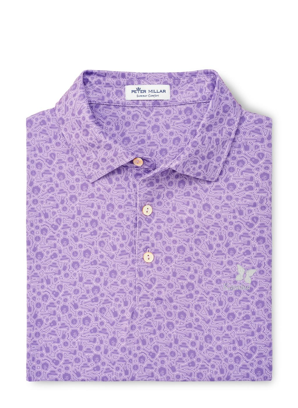 Peter Millar Haze Performance Polo - Wild Lilac
