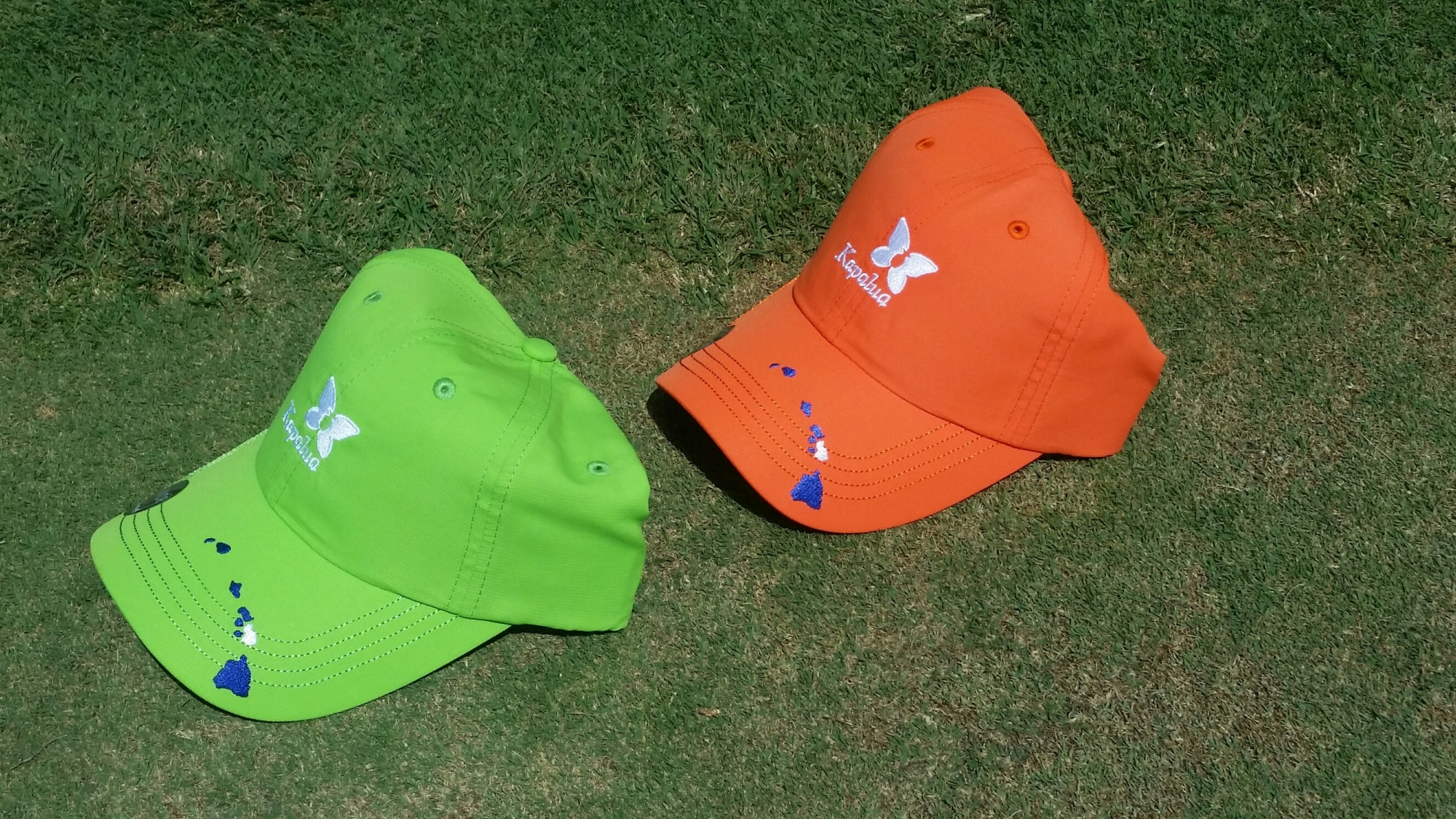 Kids Imperial Kapalua Hat - Green or Orange with island chain
