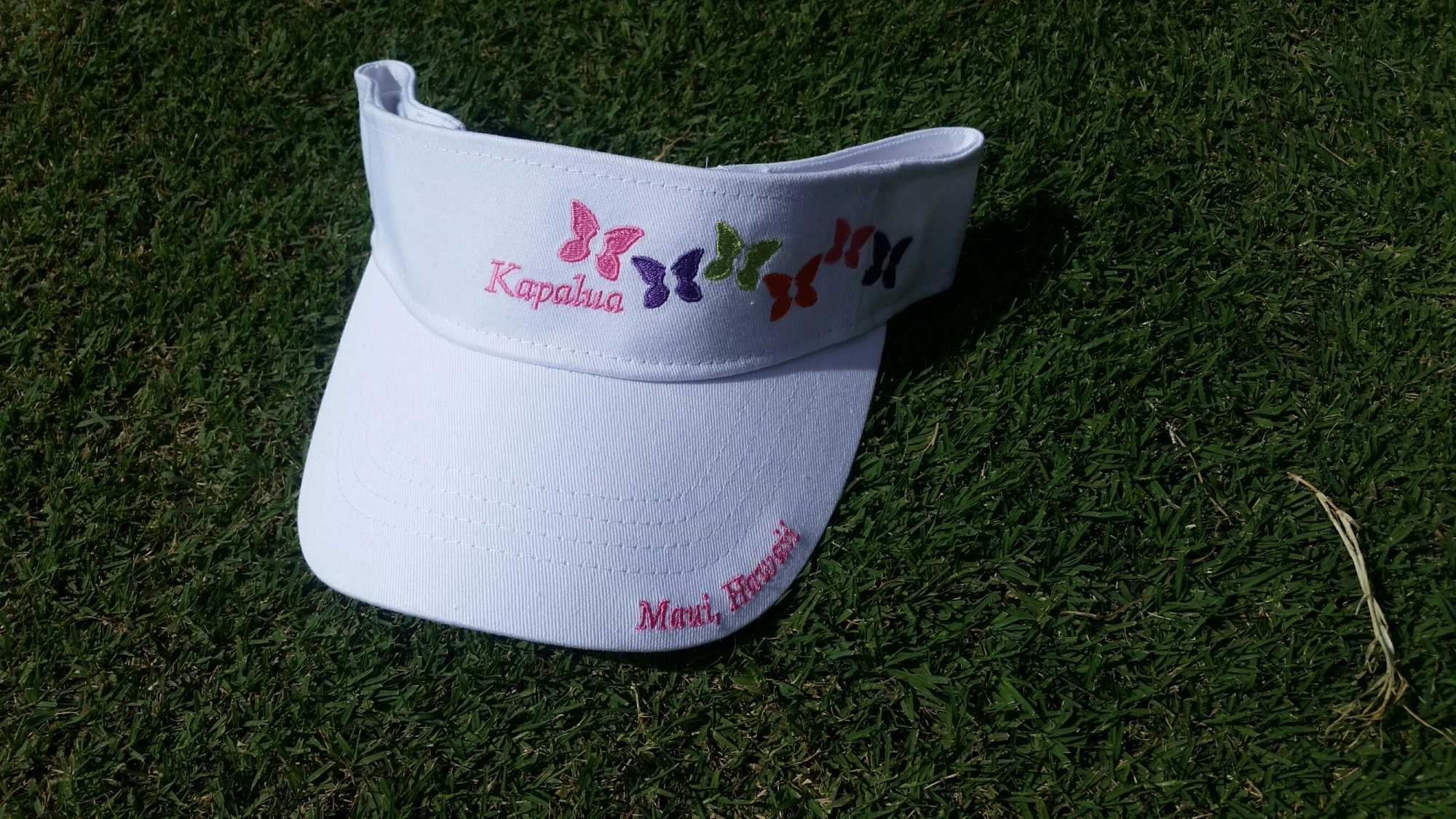 Womens Imperial Kapalua Visor - White with Butterflies