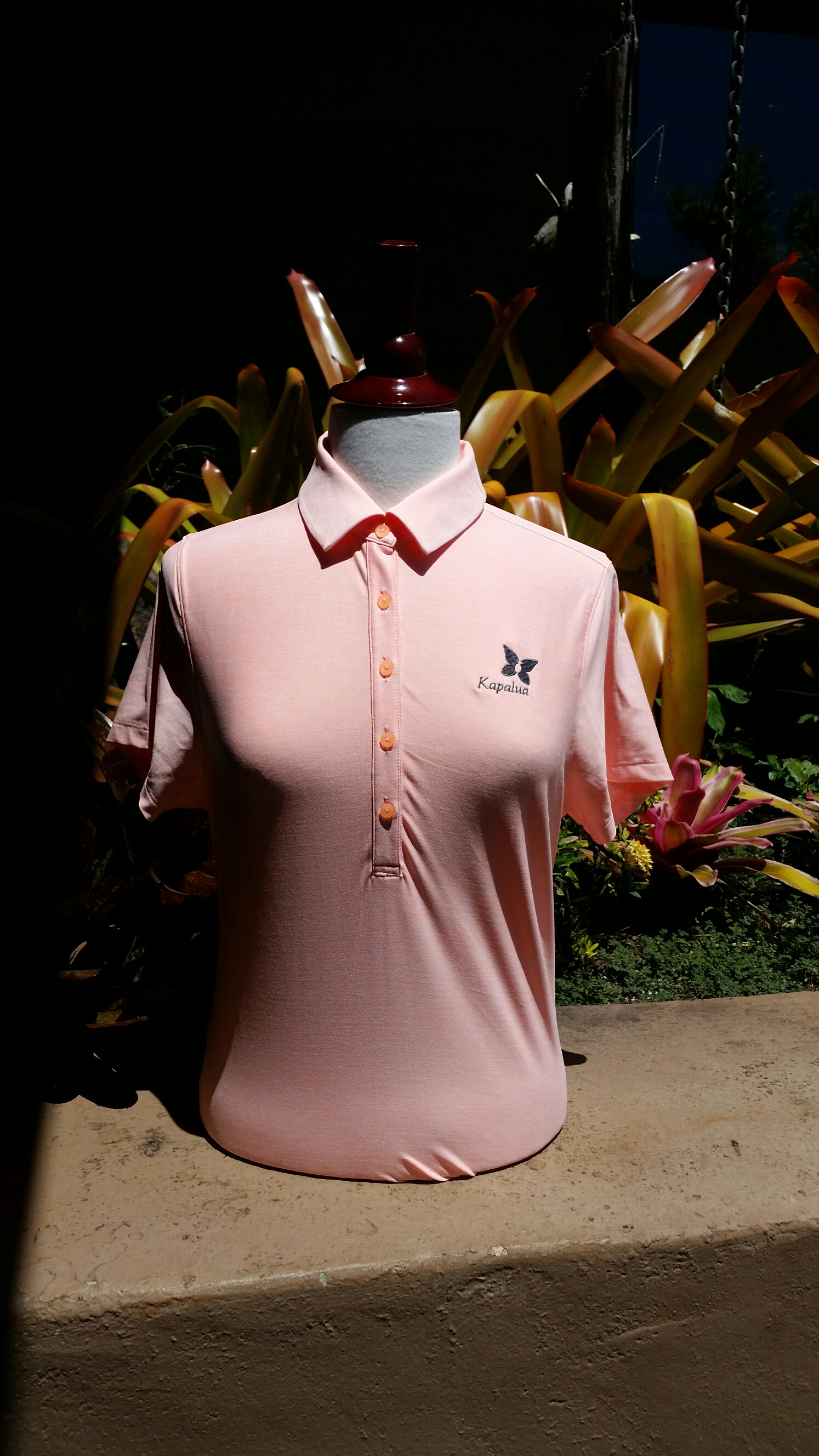 Womens Under Armour Polo Shirt - Peach