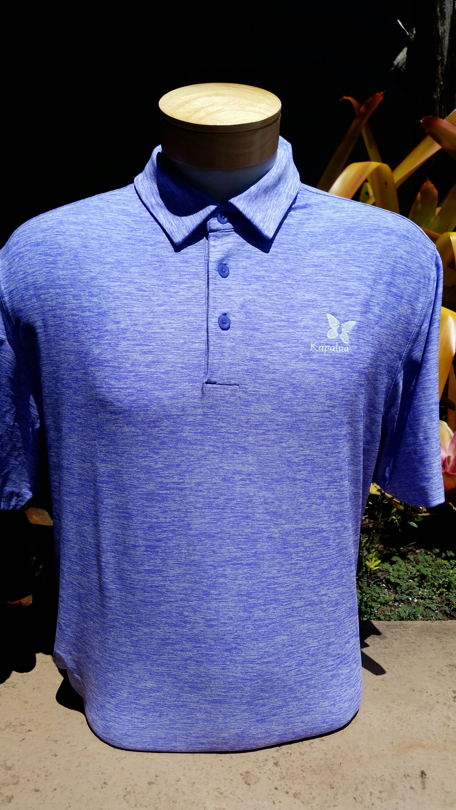 Under Armour Mens Polo Shirt - Heather Purple SMALL ONLY