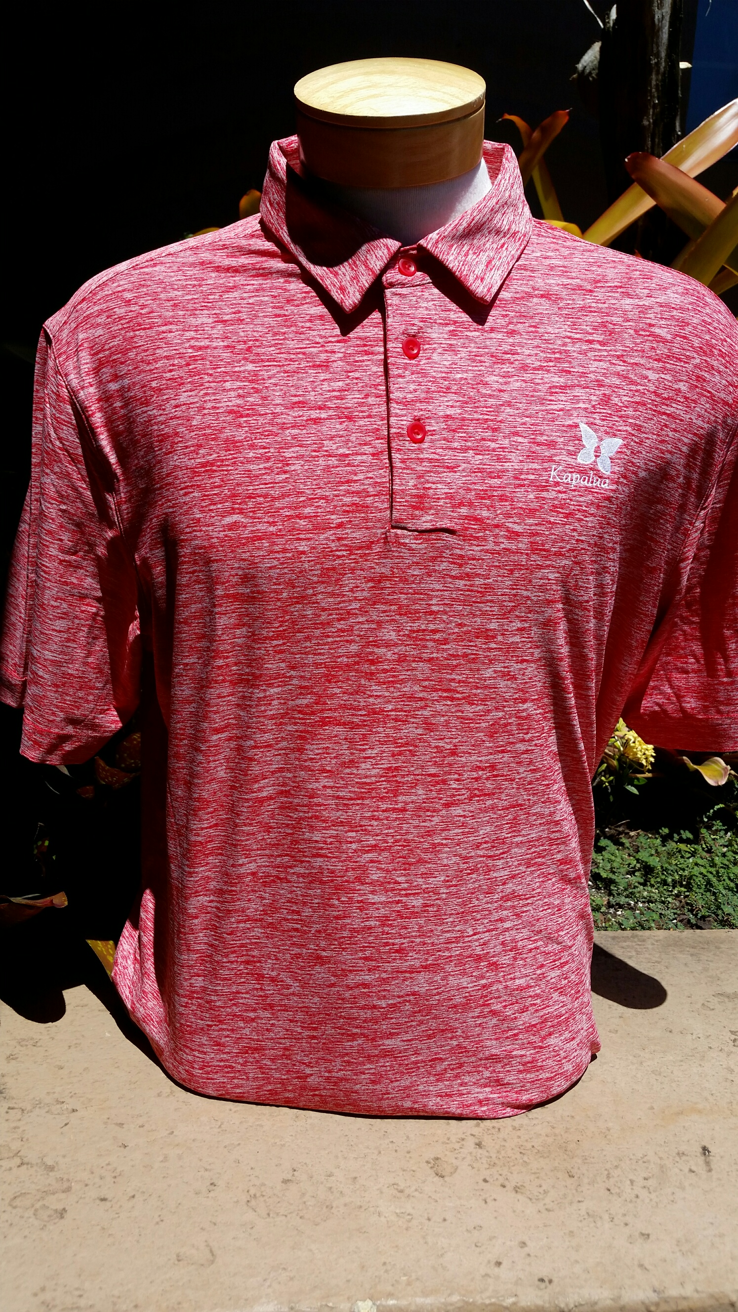 UA Mens Polo Shirt - Heather Red