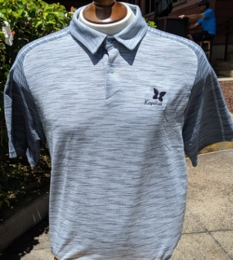 UA Mens Polo Shirt - Light Gray two-tone