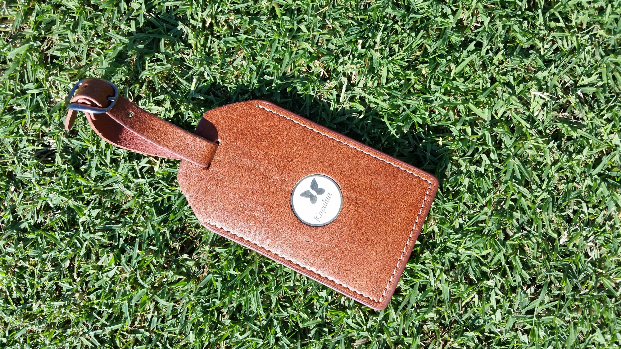 CMC Brown Leather Bag Tag