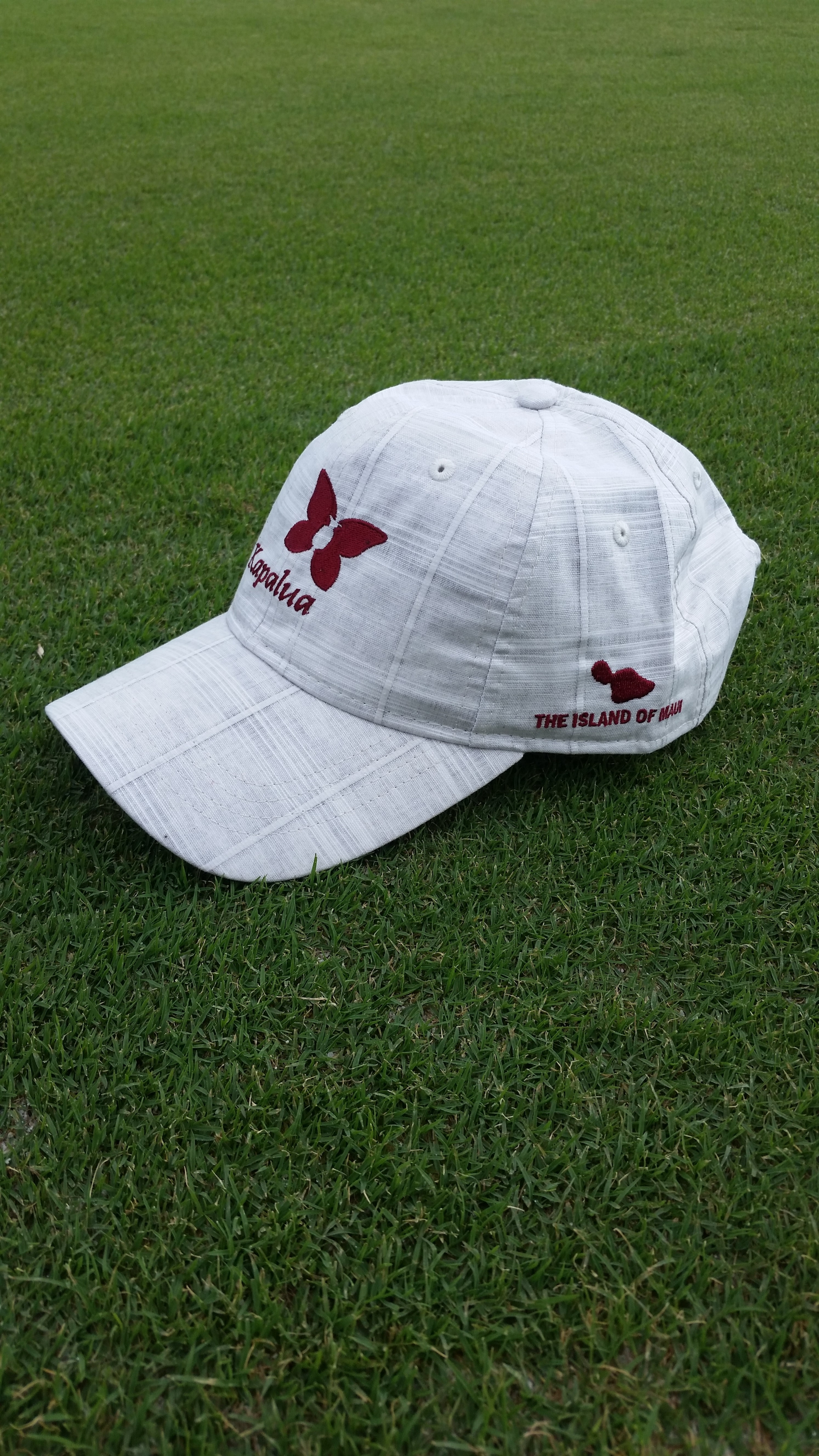 Imperial Plaid Hat with Burgundy Logo