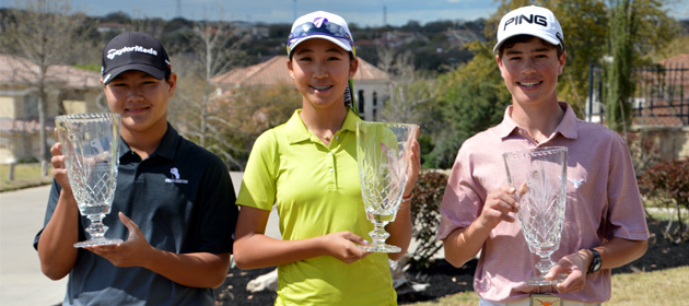 Hammer, Wang, and Lee win Jimmy Demaret Junior Classic