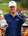 Jordan Spieth won the Tour Championship on Sunday, September 27, which was his fifth tournament victory in 2015.