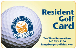 Longaberger Resident Golf Card