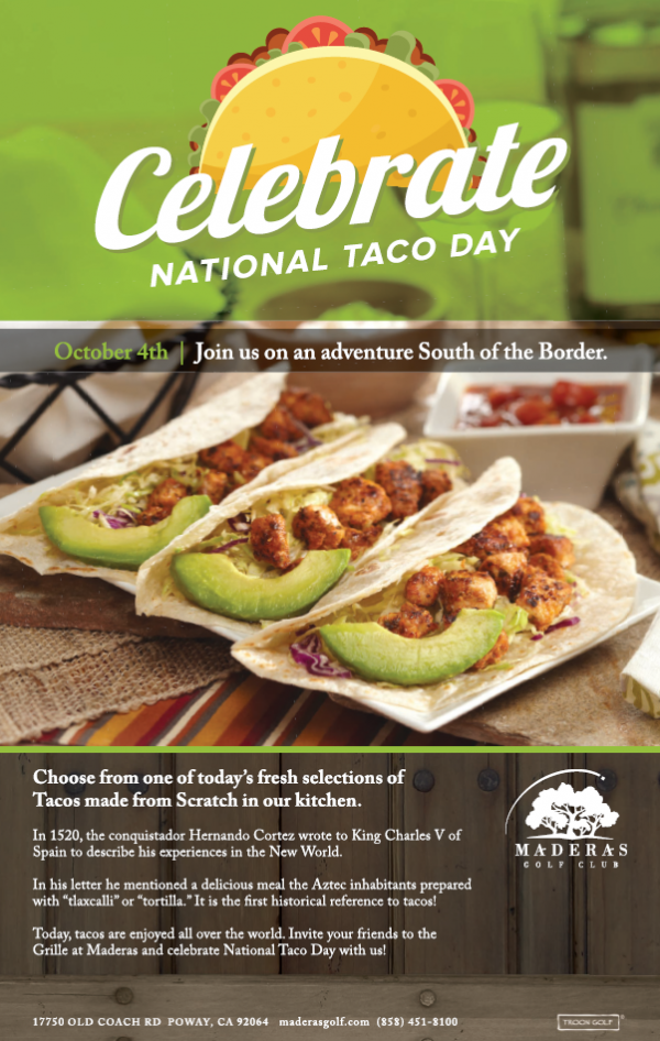 Maderas Golf Club - National Taco Day