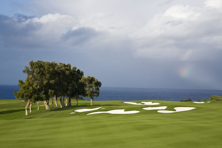 Makai Course Hole 12 - Rainbow Popping Out of The Skys