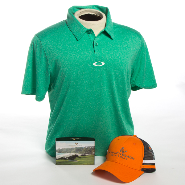 Gift Basket: Golf Polo, Golf Hat & 6 Pack of Logoed Golf Balls