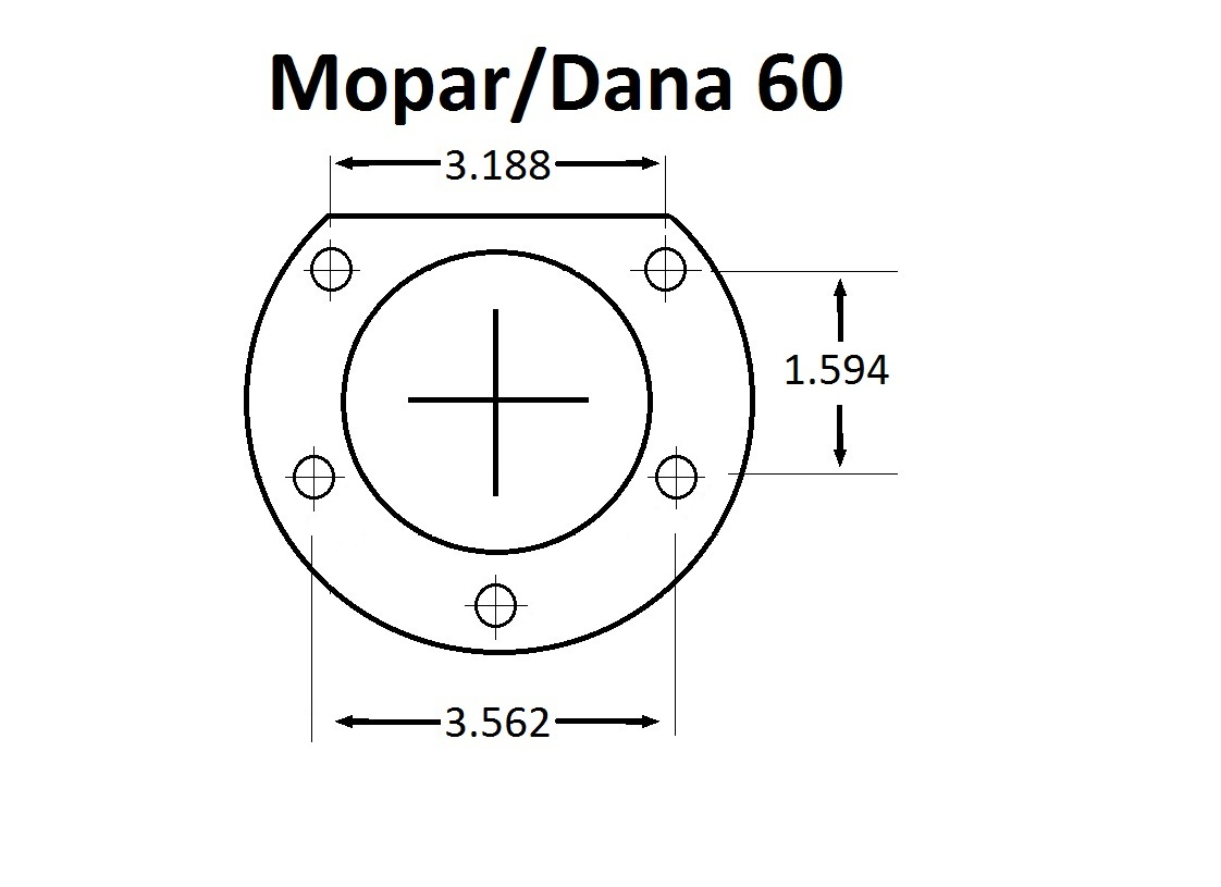 Mopar With 9400M Bearing (2.5 Offset)