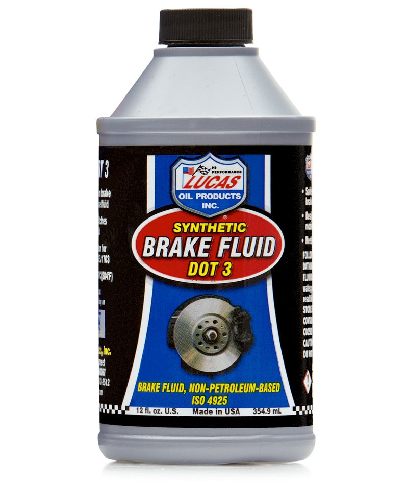 LUC-10825 LUCAS OIL DOT 3 SYNTHETIC BRAKE FLUID